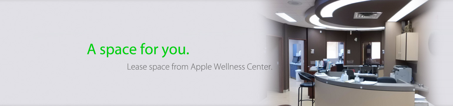 Lease Space from Apple Wellness Center